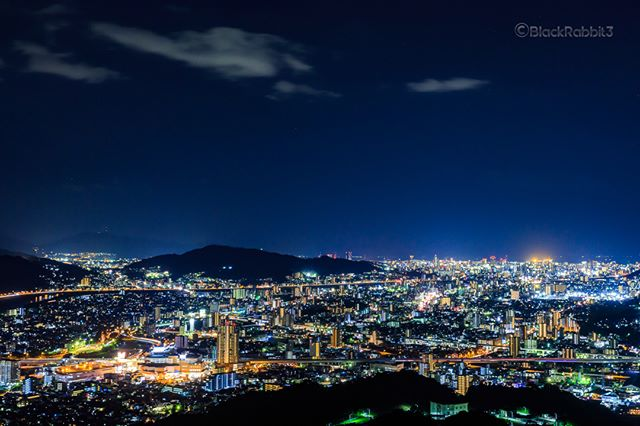 Night view of Hiroshima city